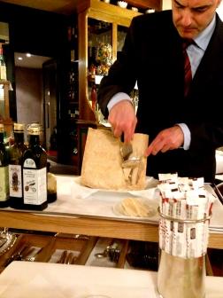 Post-dinner parmesan in Parma